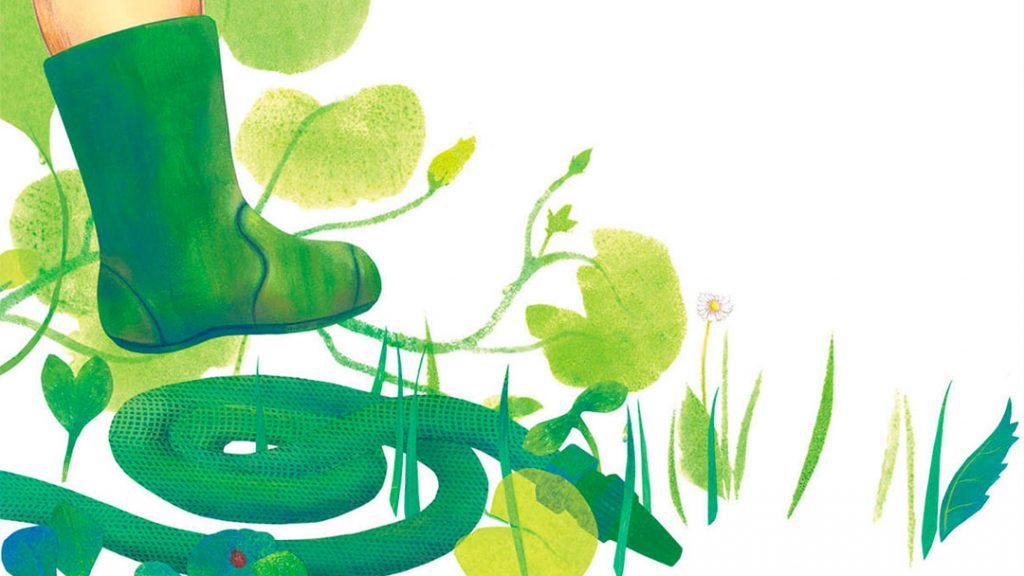 """""""Pas de géant"""" de Anaïs Lambert, Illustration du livre, pour les édition des éléphants. Contes pour bambins."""