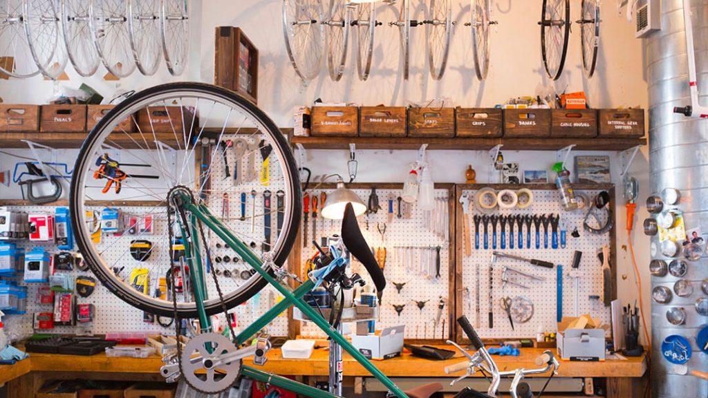 Vélo en maintenance
