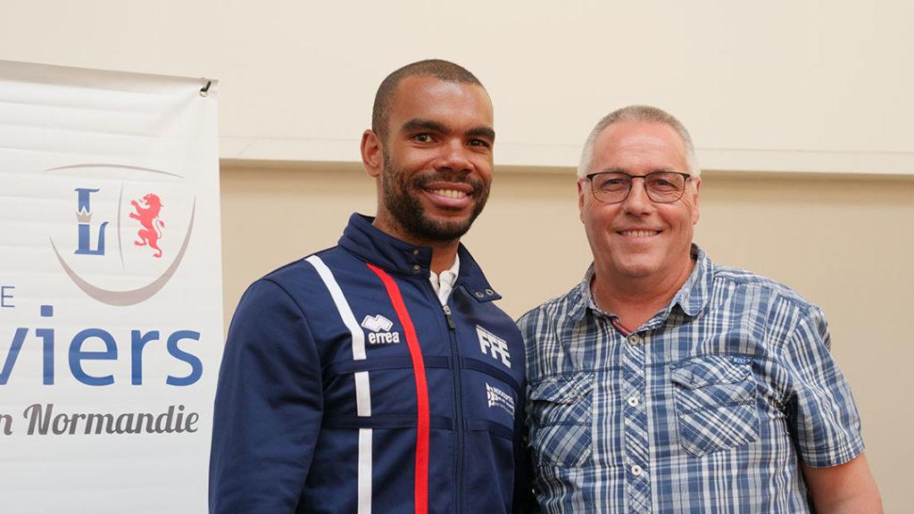 Boladé Apithy, athlète olympique et José Pires, adjoint à Louviers