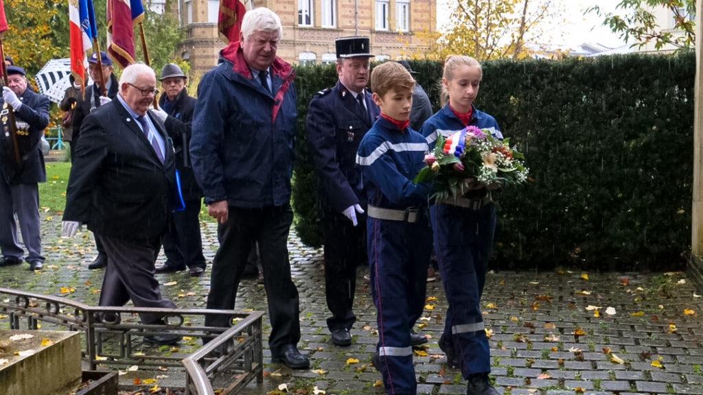 Cérémonie du 11 novembre Jeunes Sapeurs Pompiers