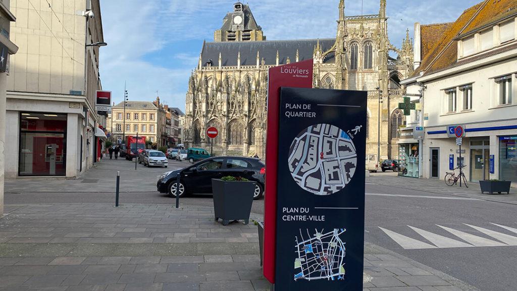 Signalétique, plan du centre ville