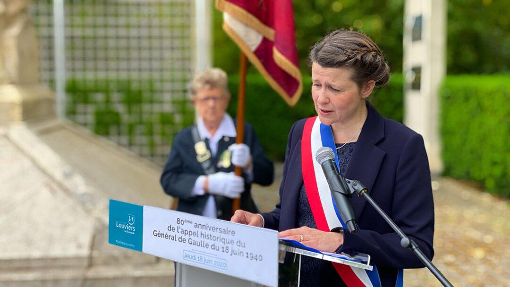 Appel du 18 juin : Allocution de Anne Terlez