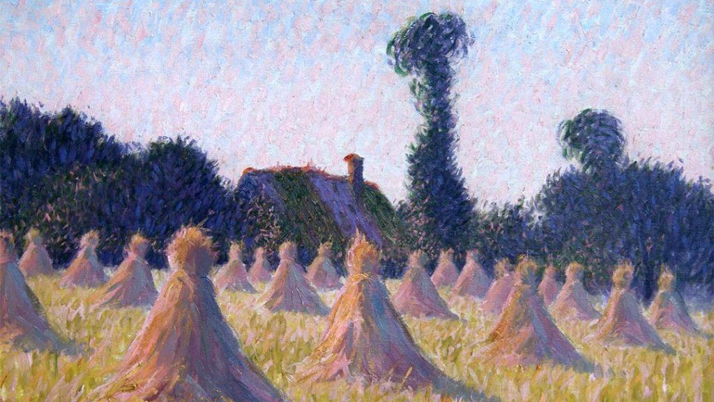 """""""Meules au couchant"""", par Charles Frechon"""
