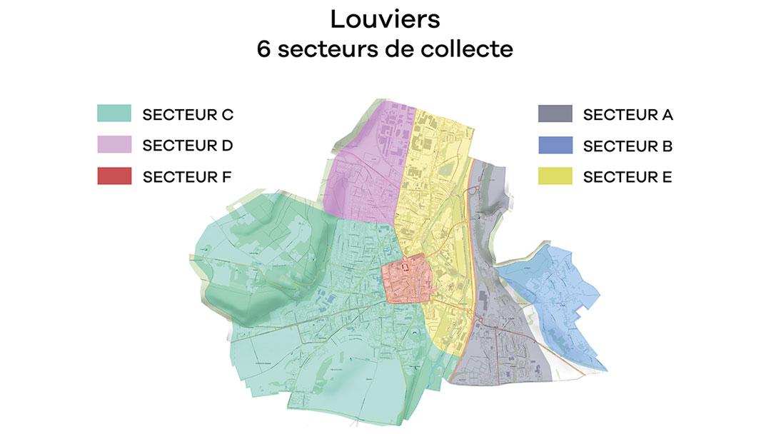 6 secteurs de collecte