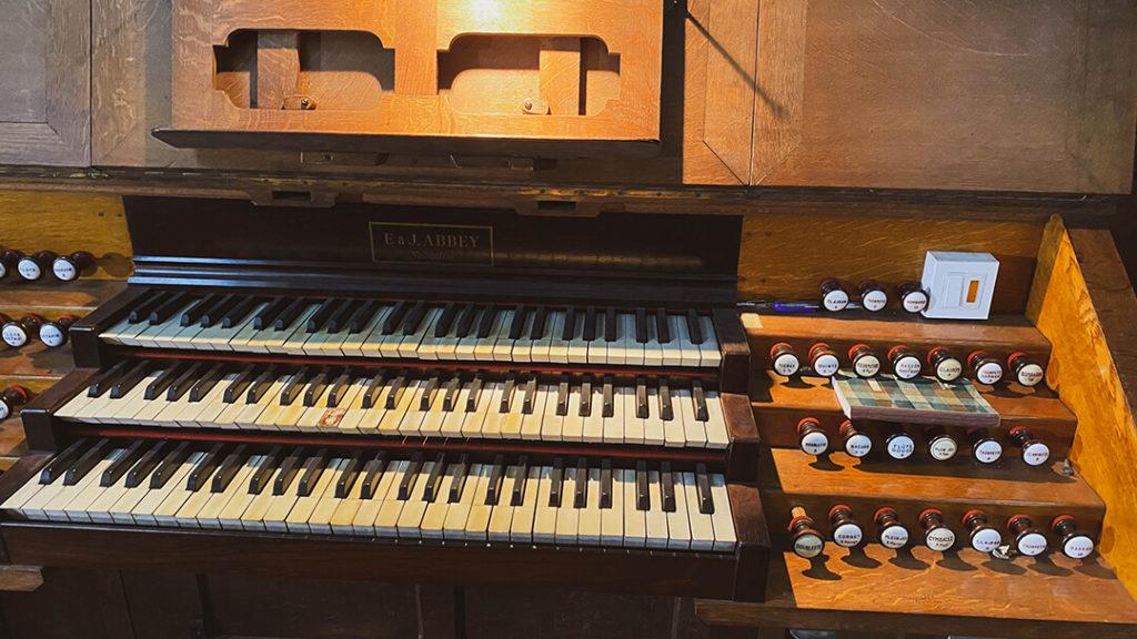 Clavier de l'orgue Maurice Duruflé