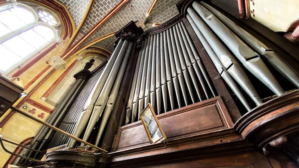 Tuyaux de l'orgue Maurice Duruflé